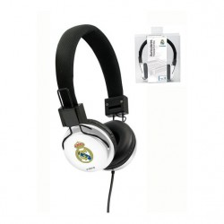 Real Madrid Auricular casco blanco