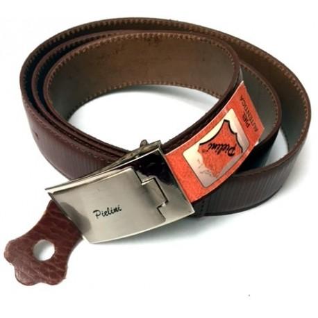 Cinturón Piellini caballero de piel 120cm marrón