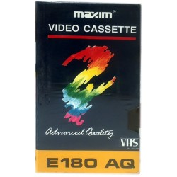 Cinta video VHS Maxim 3 horas grabación