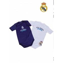 Bodys Real Madrid para bebé manga larga
