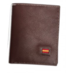 Cartera billetera piel marron Blesrok