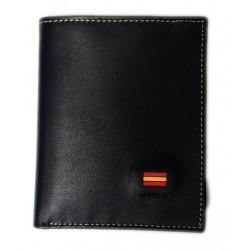 Cartera billetera piel negro J.Ponce España