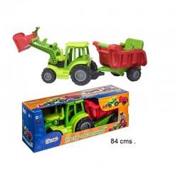 Tractor con remolque vasculante 70cm
