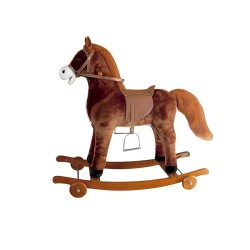 Caballo balancín y ruedas juguete con sonido 90cm largo 60cm alto
