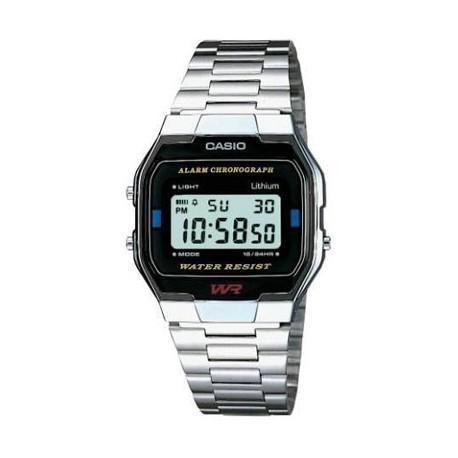 Reloj Casio plateado A163WA-1QES