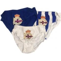 Slip Deportivo de la Coruña pack de 3 unidades infantil