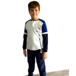 Pijama Real Madrid niño invierno terciopelo Tallas 6 a 16