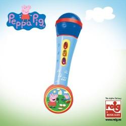Micro de mano con amplificador y ritmos Peeppa Pig