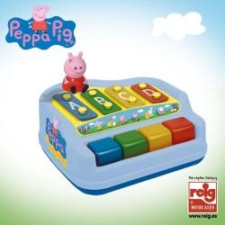 Xilófono piano 4 notas con figura Peppa Pig