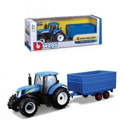 Tractor New Holland T7315 con remolque Bburago 1:32