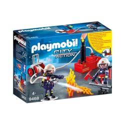 Playmobil 9468 Bomberos con Bomba de Agua