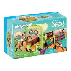 Playmobil 9478 Establo Fortu y Spirit