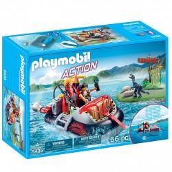 Playmobil 9435 Aerodeslizador con motor submarino cazadores furtivos de dinosaurios