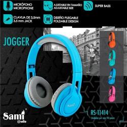 Auriculares Cascos stereo Sami con micrófono RS-11414 color azul