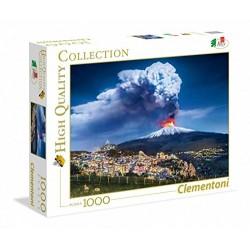 Puzlle Volcán Etna Italia 1000 piezas Clementoni 69x50cm
