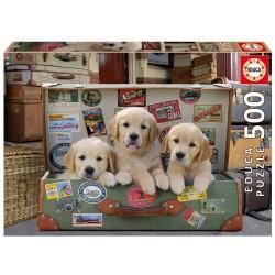 Puzzle de 500 Piezas Educa Borras Cachorros en el eque 48x34cm