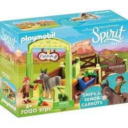 Playmobil 70120 Establo Trasqui y serñor Zanahoria Spirit