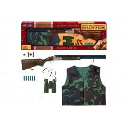 Juguete Escopeta caza superpuesta 85cm Gonher con accesorios