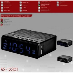 Radio Reloj multimedia USB micro SD RS-12301