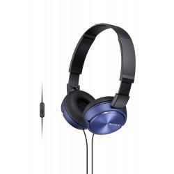 Auriculares Cascos stereo Sami con micrófono RS-11414 color rojo