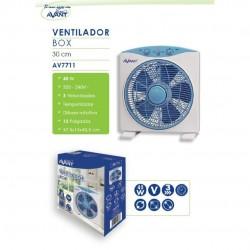 Ventilador cuadrado difusor rotativo 37,5 x 15 x 41,5 cm 40W