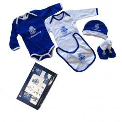 Deportivo de La Coruña pack bebé recien nacido 5 piezas
