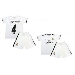 Equipación portero Courtois Real Madrid niño camiseta pantalón tallas 6 a 14