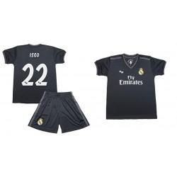 Isco 1ª Equipación Real Madrid niño camiseta pantalón tallas 6 a 14