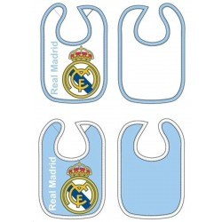 Real Madrid pack 2 baberos celeste y blanco