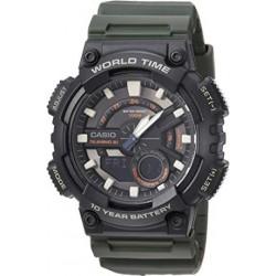Reloj Casio Caballero AEQ-110W-1AV correa verde militar