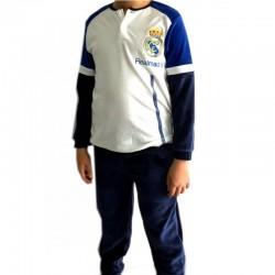 Pijama Real Madrid adulto invierno tejido terciopelo