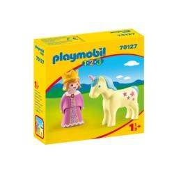 Playmobil 70127 1.2.3 Princesa con Unicornio