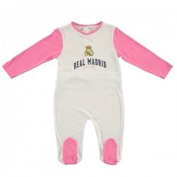Pelele Real Madrid para bebé rosa