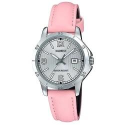 Reloj Casio Señora LTP-V004L-4B esfera plateada correa rosa