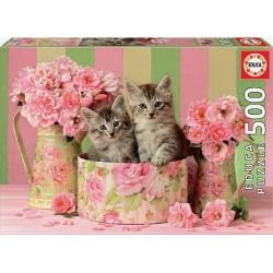 Puzzle 500 piezas gatitos...