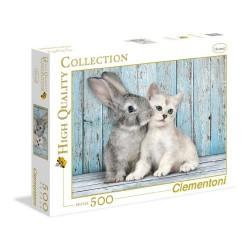Puzzle 500 piezas Gato & Conejo