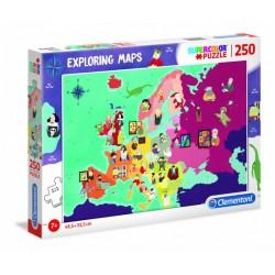 Puzzle 250 piezas Mapa...