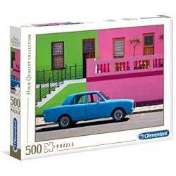 Puzzle 500 piezas Coche azul