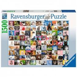 Puzzle 1500 piezas 99 Gatos...