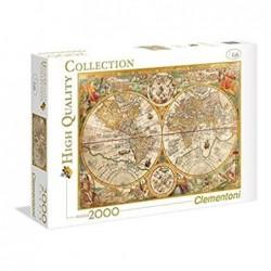 Puzzle 2000 piezas Mapa...