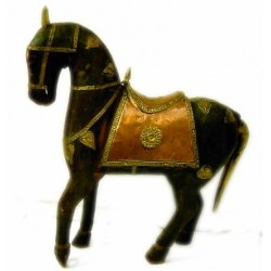 Artesanía caballo de madera