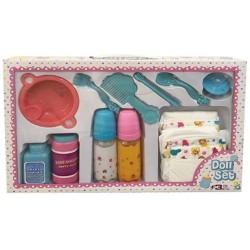 Accesorios juguete bebé biberones pañales chupe peine