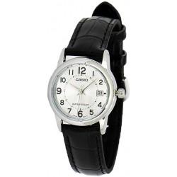 Reloj Casio Señora LTP-V002L-7BU correa negra esfera plateada