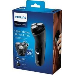 Máquina afeitar Philips recargable S1231 lavable con cortapatillas