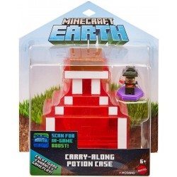 Minecraft estuche poción Earth de Minecraft y figura GKT45 Mattel
