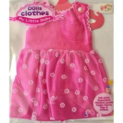 Conjunto vestido rosa flores para muñecas 38cm aprox