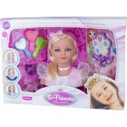 Busto Belleza y peinados princesa juguete rosa
