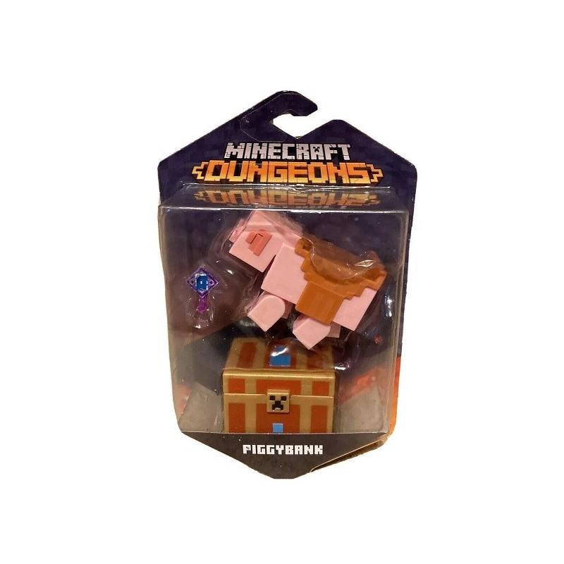 Minecraft Dungeons Figura de Juguete de 8cm Hucha de Cerdito