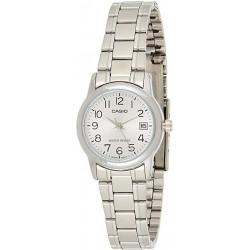 Reloj Casio Señora LTP-V002D-7BU plateado con calendario