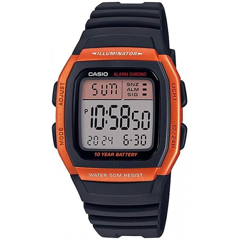 Reloj Casio Caballero W-96H-4A2 naranja